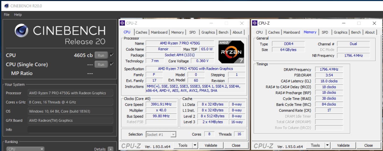 ASRock DeskMini X300_Ryzen 7 PRO 4750G_4GHz_Cinebench R20