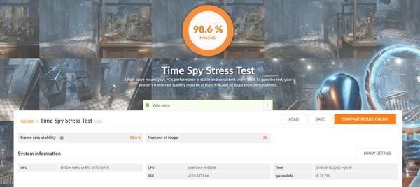 ZOTAC GAMING GeForce RTX 2070 SUPER MINI_TimeSpy Stress Test