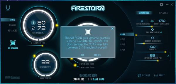 ZOTAC GAMING GeForce RTX 3080 Trinity_FireStorm_Scanner