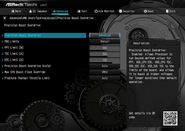 Precision Boost Overdrive_setting_BIOS
