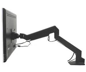 Lumen モニターアーム [ ガス圧式 ] 3軸構造 MA-GS102BK