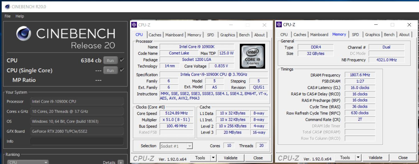 Intel Core i9 10900K_cinebench-R20