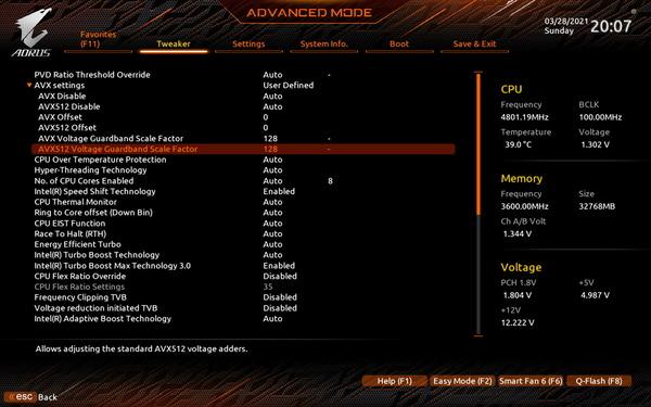 GIGABYTE Z590 AORUS ULTRA_BIOS_OC-Test (2)