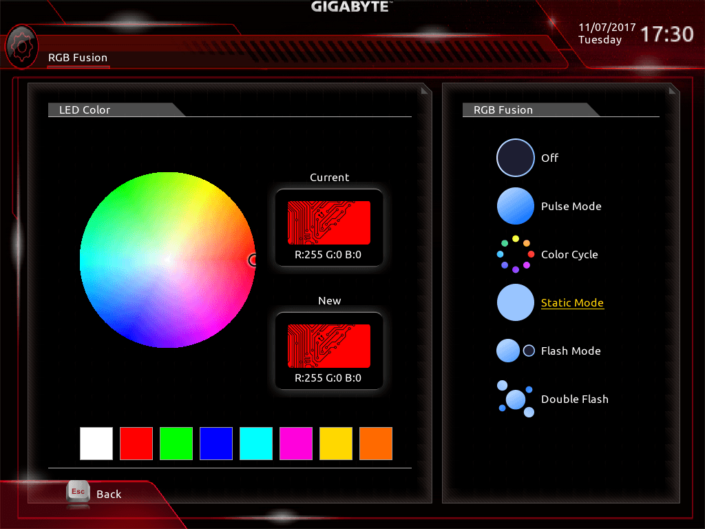 GIGABYTE Z370 AORUS Gaming 7_BIOS_LED_2