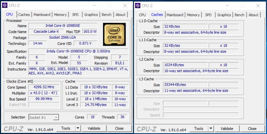 Intel Core i9 10980XE_CPU-Z