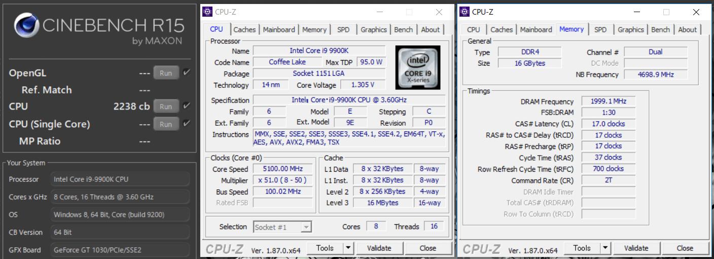 ASUS WS Z390 PRO_OC Test_cinebench