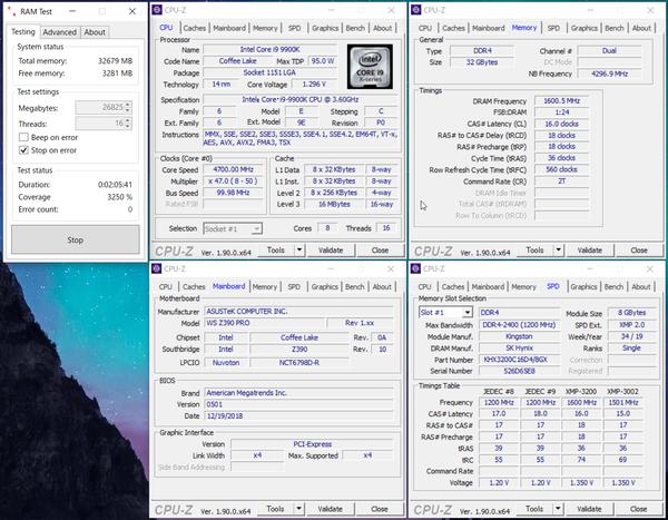 HyperX FURY RGB DDR4 HX432C16FB3AK2-16_Intel-Z390_XMP