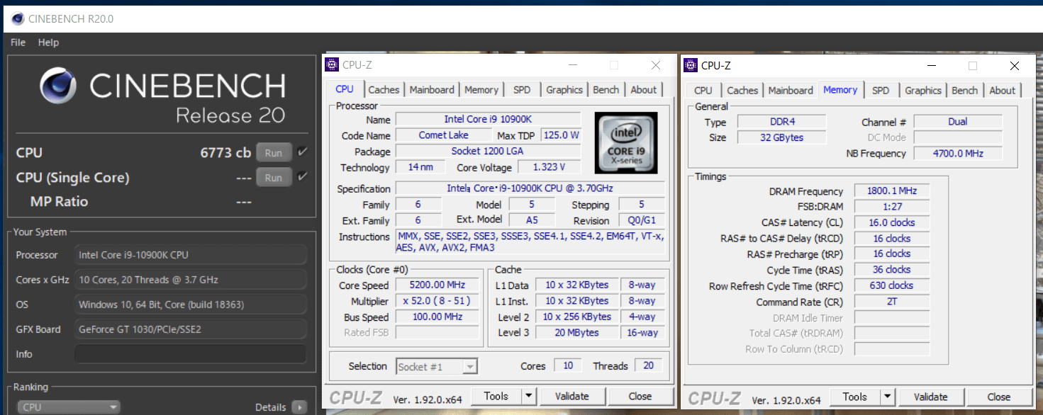 Core i9 10900K OC_cinebenchR20