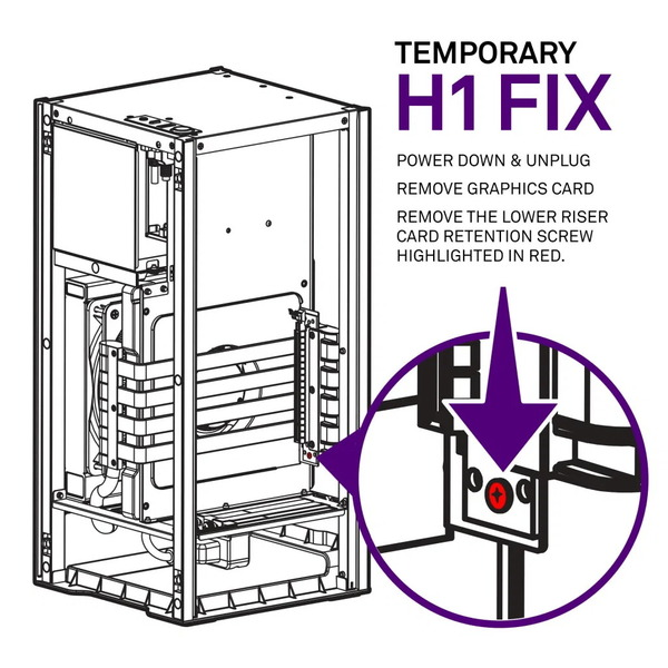 NZXT H1 Case Safety Issue_temporary fix