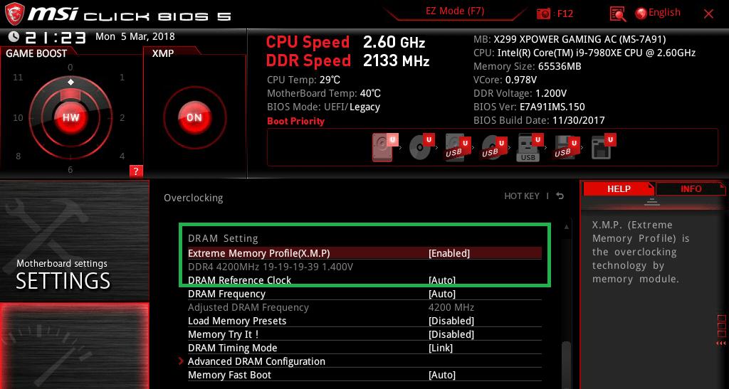 MSI X299 XPOWER GAMING AC_BIOS_OC_20
