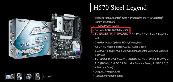 ASRock H570 Steel Legend_Spec