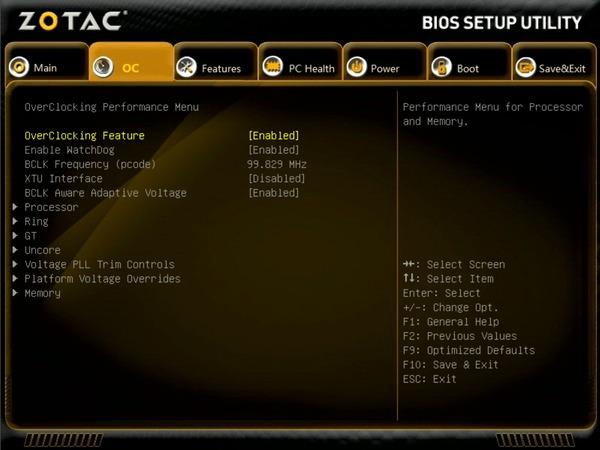 ZOTAC ZBOX Eシリーズ EN52060V BIOS_OC