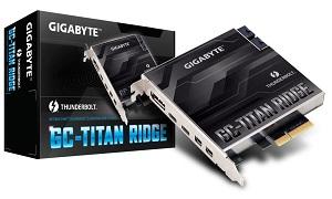 GIGABYTE GC-TITAN RIDGE Thunderbolt3拡張カード