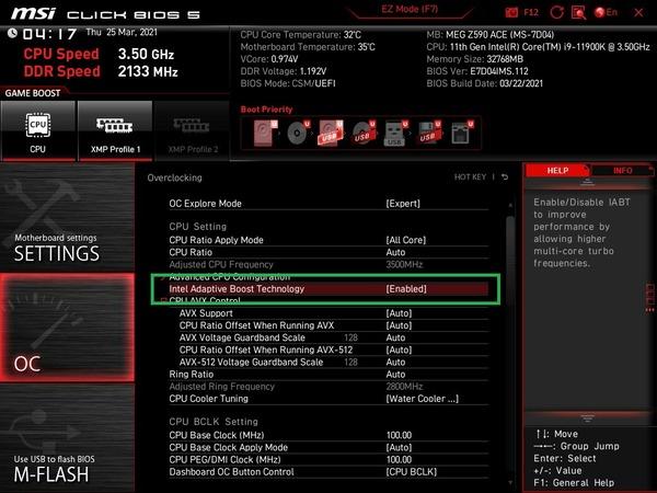 MSI MEG Z590 ACE_BIOS_OC_28