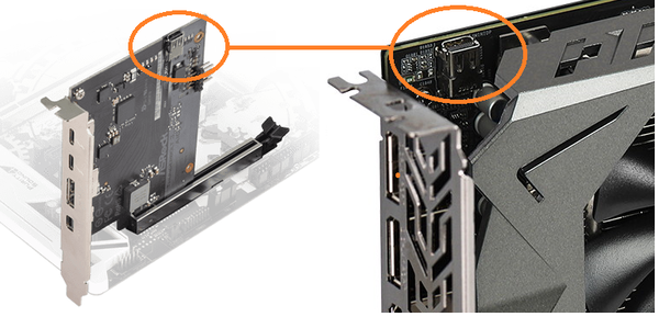 ASRock Thunderbolt 3 AIC R2.0_internal-mDP_connecter