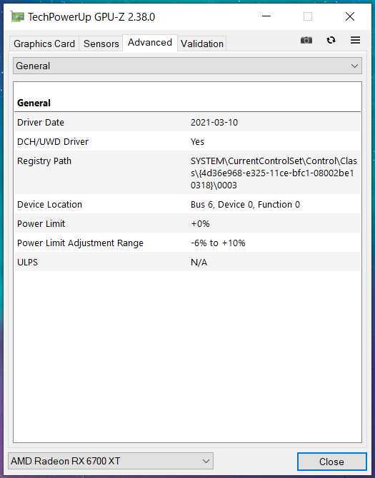 MSI Radeon RX 6700 XT GAMING X 12G_GPU-Z (2)