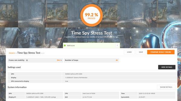 GeForce RTX 3090 EKWB_Time Spy Stress Test