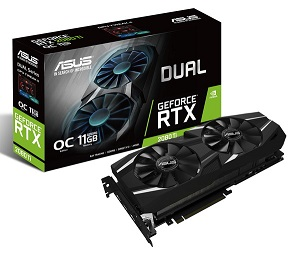 ASUS GeForce RTX 2080 Ti O11G Dual-Fan OC Edition