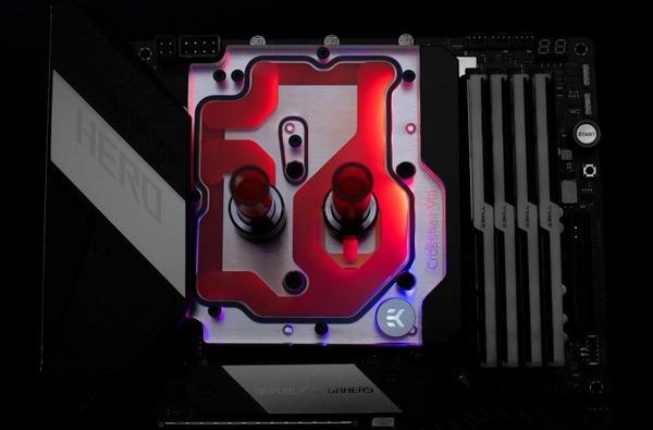EK-Quantum Momentum ROG Crosshair VIII Hero D-RGB - Plexi (4)