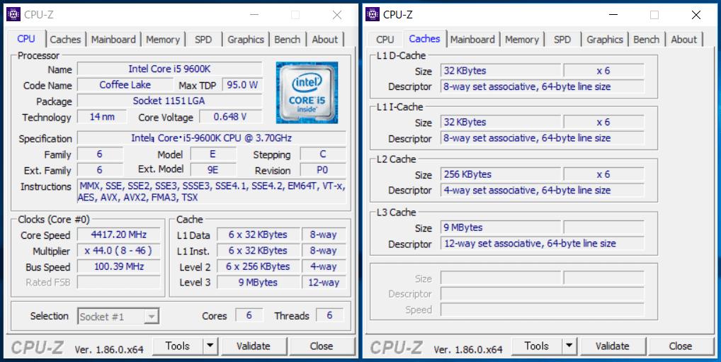 Core i5 9600K_CPU-Z