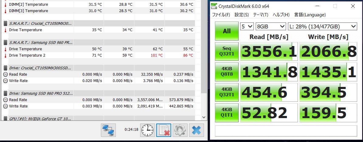 Samsung 960 PRO 512GB_temp test