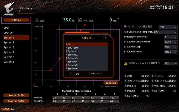 GIGABYTE Z590 AORUS ULTRA_BIOS_Fan_7