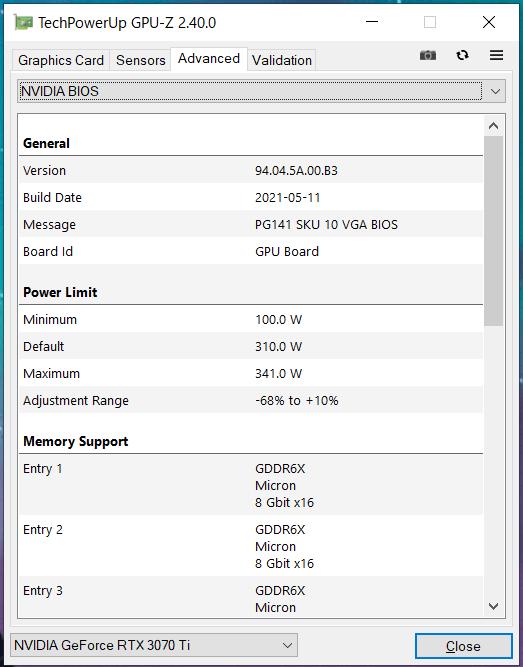 ZOTAC GAMING GeForce RTX 3070 Ti AMP Holo_GPU-Z (3)