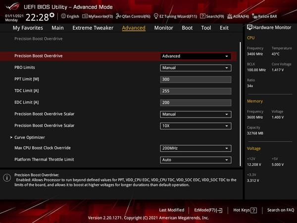 ASUS ROG Crosshair VIII Dark Hero_OC Test_BIOS (2)
