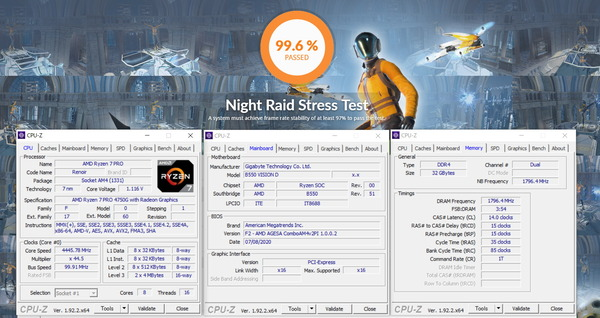 GIGABYTE B550 VISION D_OC Test_Memory_iGPU-Stress