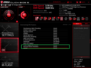 Precision Boost Overdrive_BIOS_MSI
