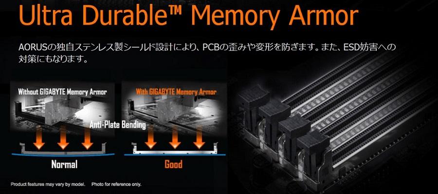 GIGABYTE Ultra Durable Memory Armor