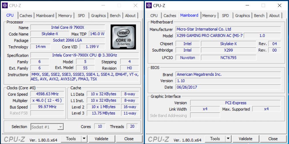 MSI X299 GAMING PRO CARBON AC_OC1