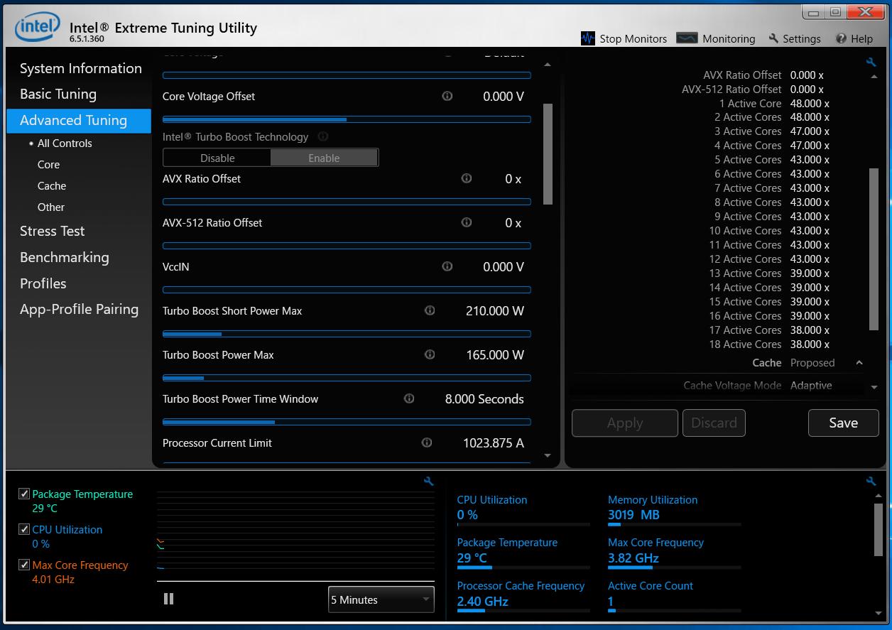 Intel Core i9 10980XE_XTU