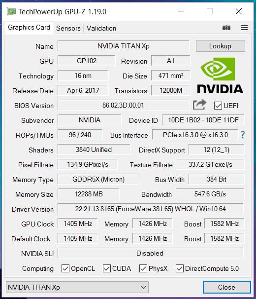 NVIDIA TITAN Xp_gpu-z