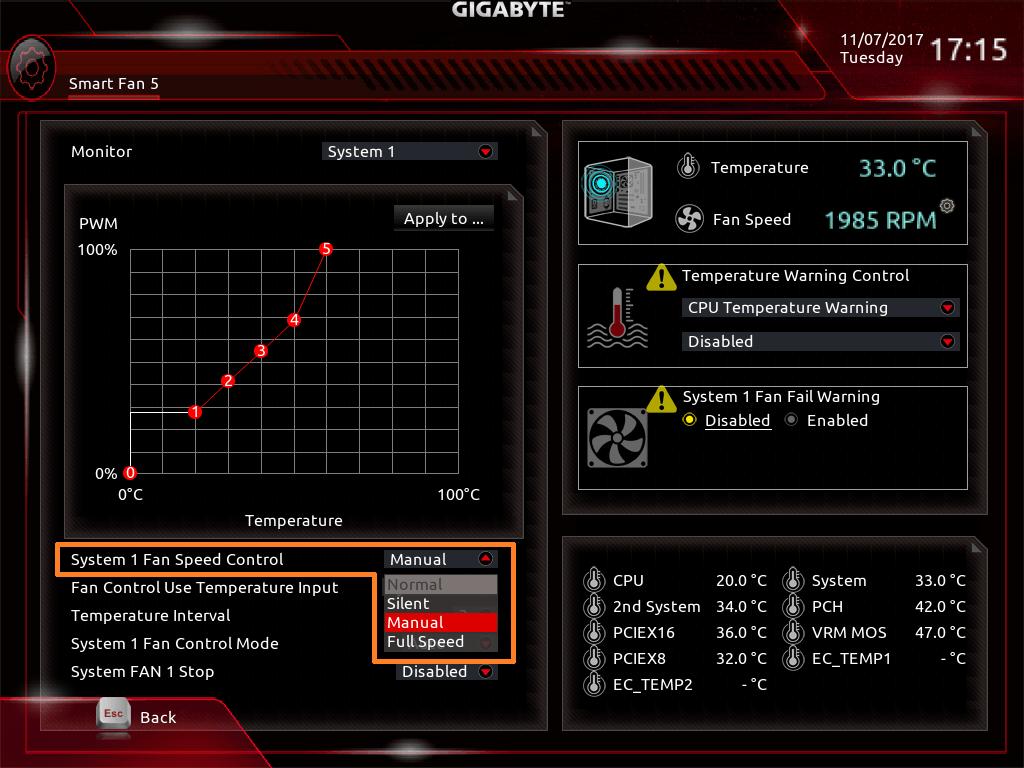 GIGABYTE Z370 AORUS Gaming 7_BIOS_Fan_4