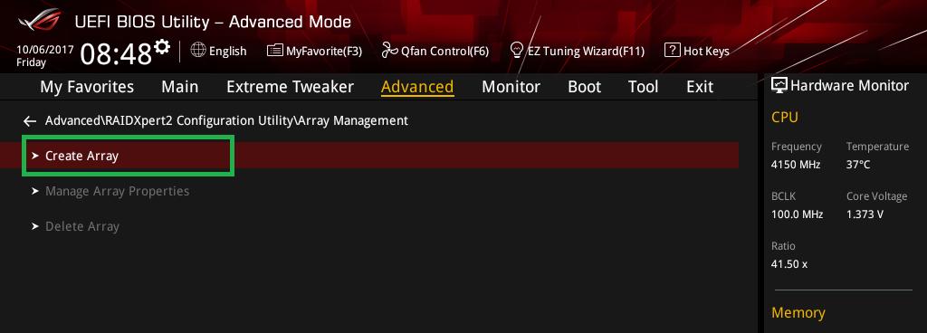 Threadripper NVMe RAID アレイ構築_9