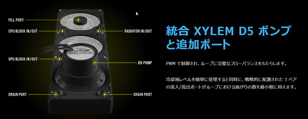Corsair Hydro X Series XD7 RGB Pump and Reservoir combo_spec