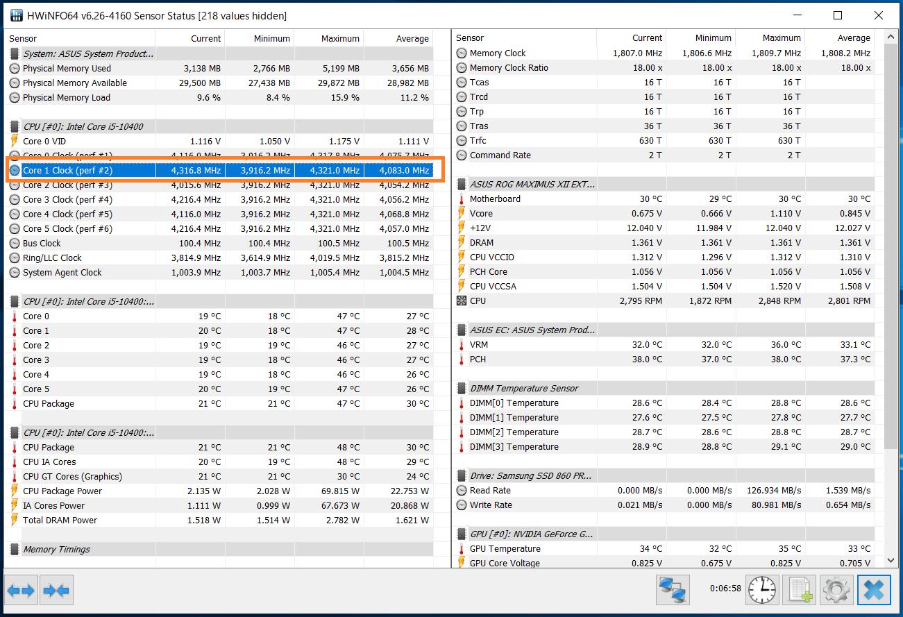 Intel Core i5 10400_Boost-Clock_Single
