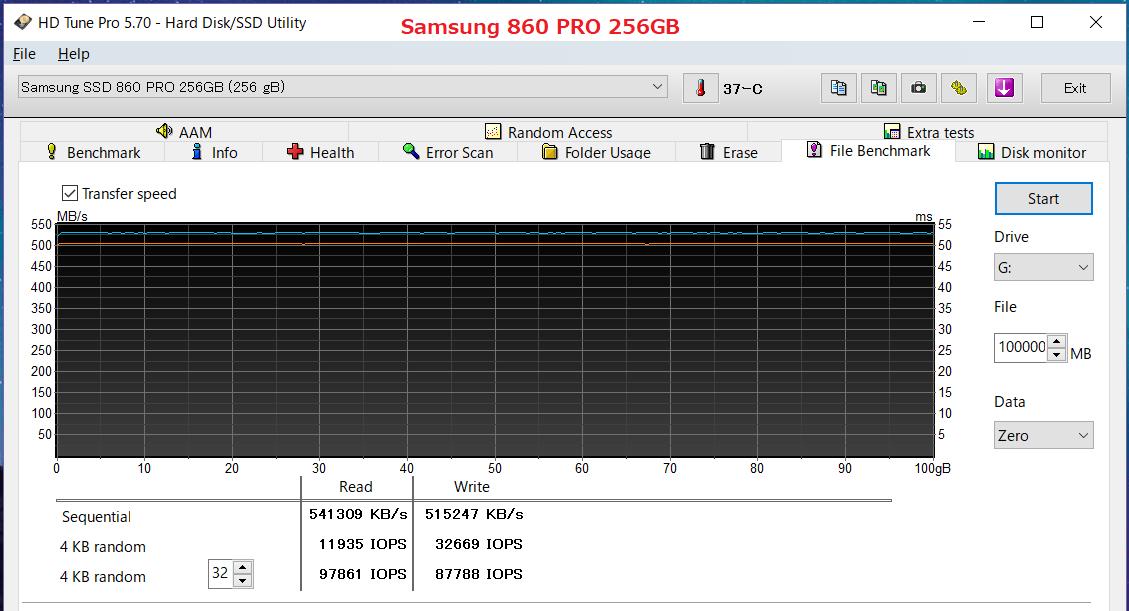 Samsung 860 PRO 256GB_HDT