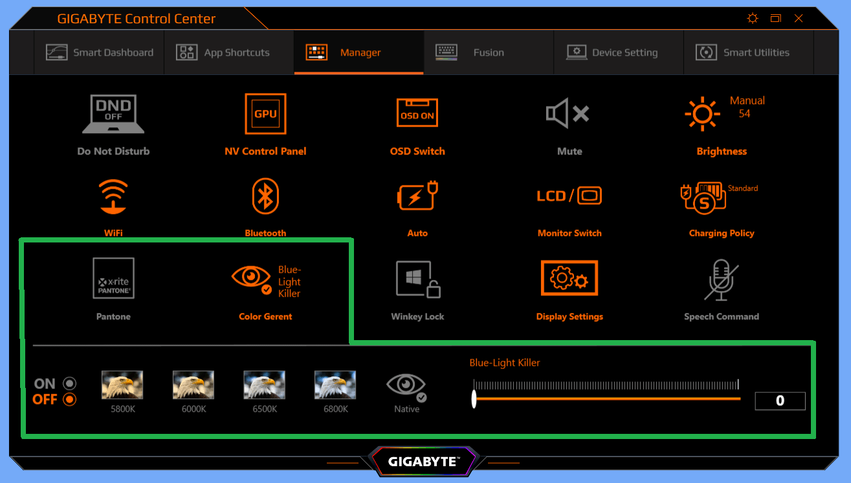 GIGABYTE AERO 15 OLED_color-temp