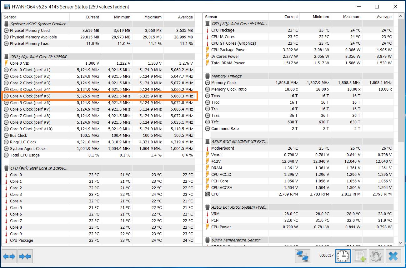 Intel Core i9 10900K_Boost-Clock_Single