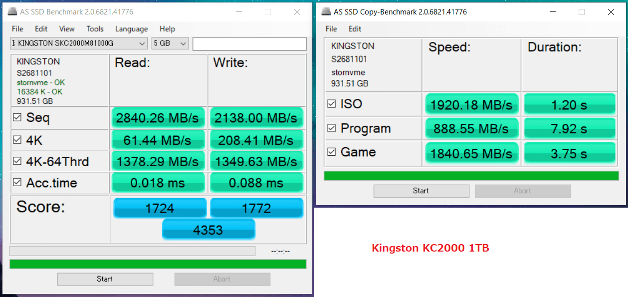 Kingston KC2000 1TB_AS