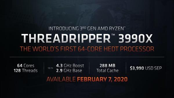 AMD Ryzen Threadripper 3990X_spec