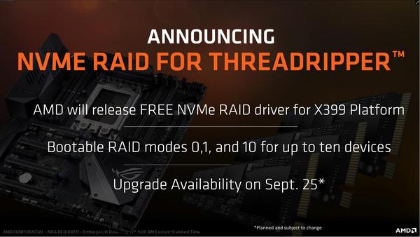 Threadripper NVMe RAID