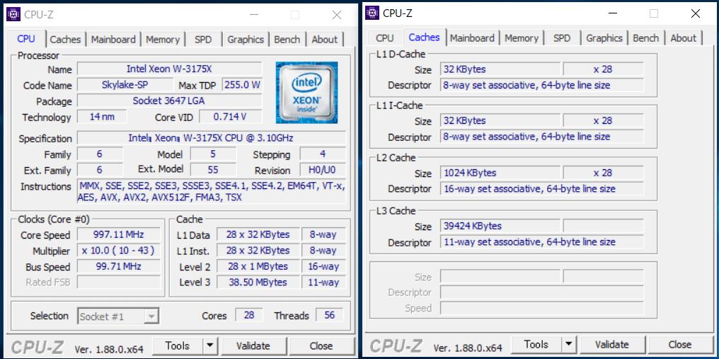 Intel Xeon W-3175X_CPU-Z