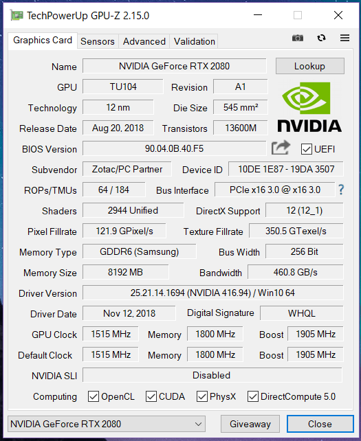 ZOTAC GAMING GeForce RTX 2080 AMP Extreme_GPU-Z (1)