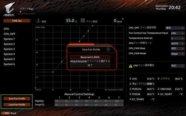 GIGABYTE Z590 AORUS ULTRA_BIOS_Fan_9