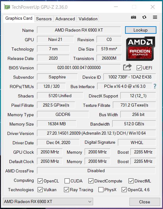 SAPPHIRE NITRO+ Radeon RX 6900 XT_Perf_GPU-Z (1)