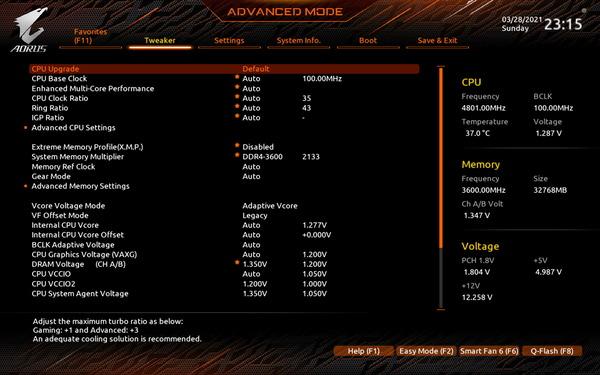 GIGABYTE Z590 AORUS ULTRA_BIOS_OC-Test (1)