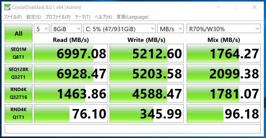 G-Master Hydro Z590_SSD_CDM8_CFD PG4VNZ 1TB
